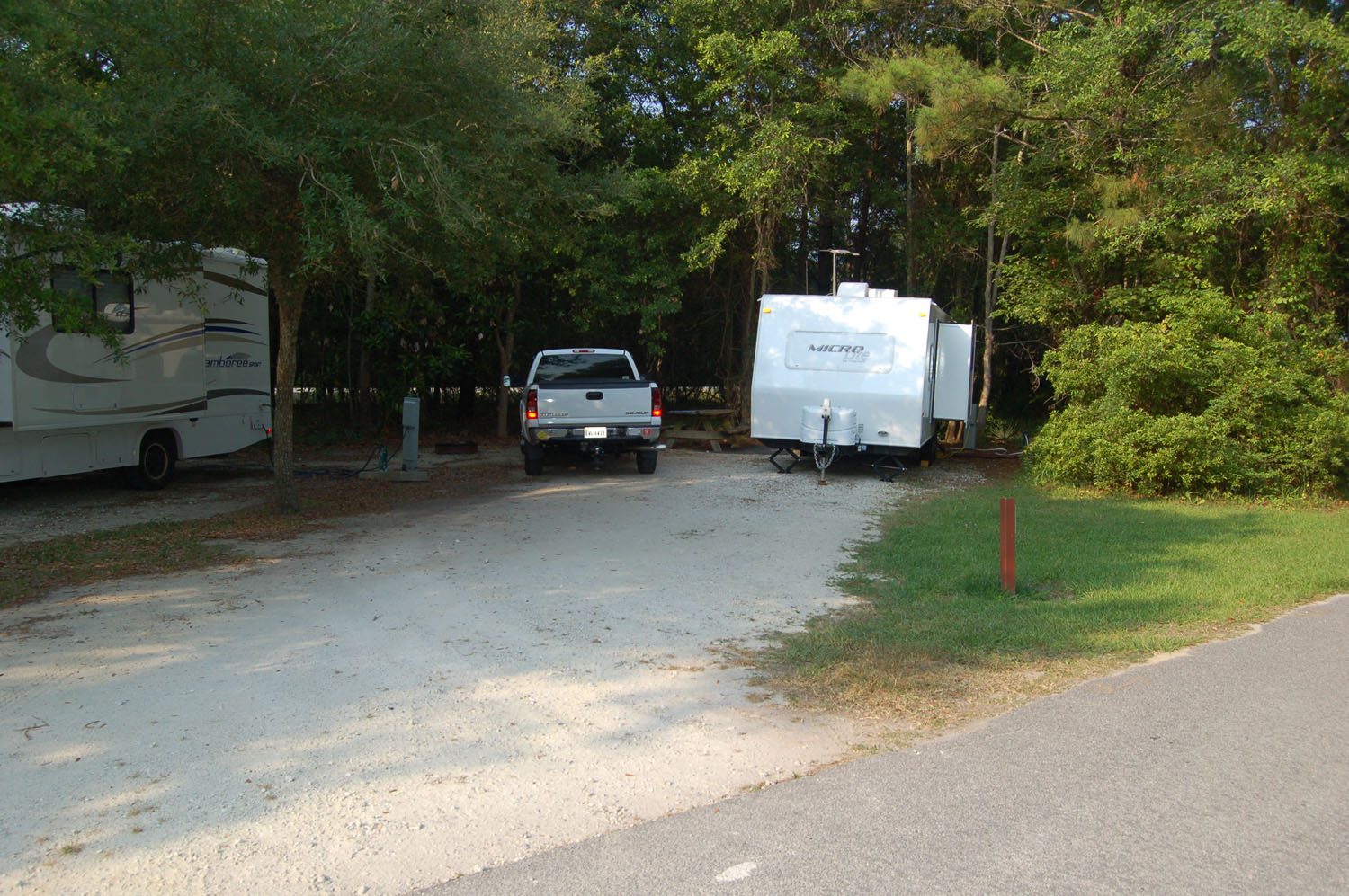 Image of campsite #68 at the Campground at James Island County Park