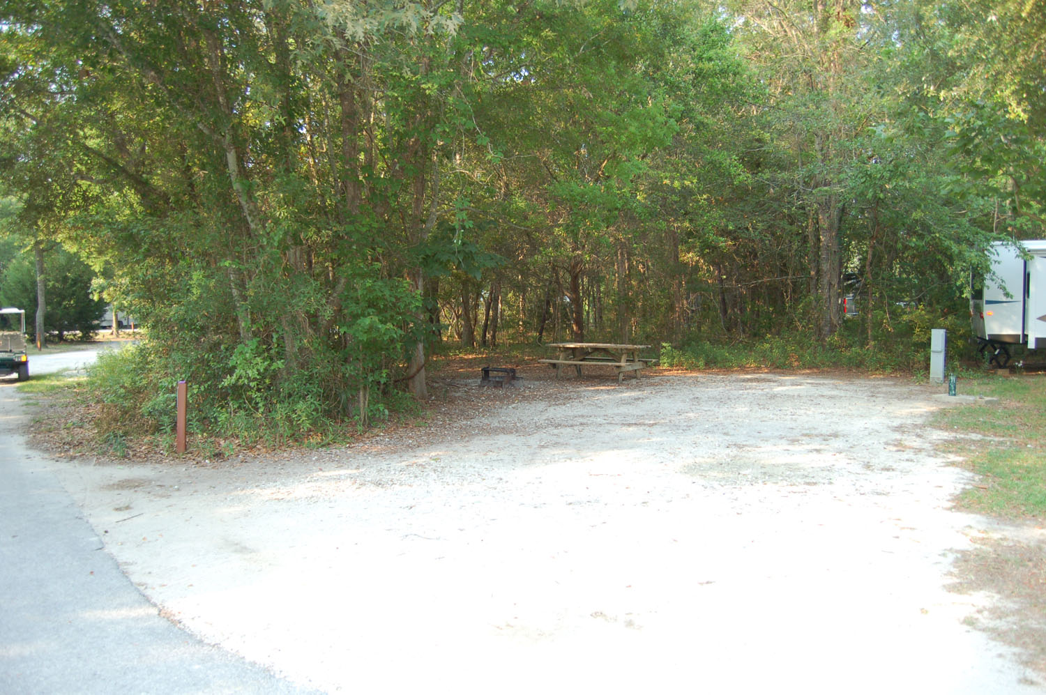 Image of campsite #75 at the Campground at James Island County Park