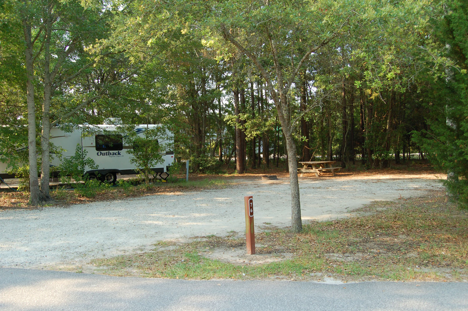 Image of Site #76 at the Campground at James Island County Park
