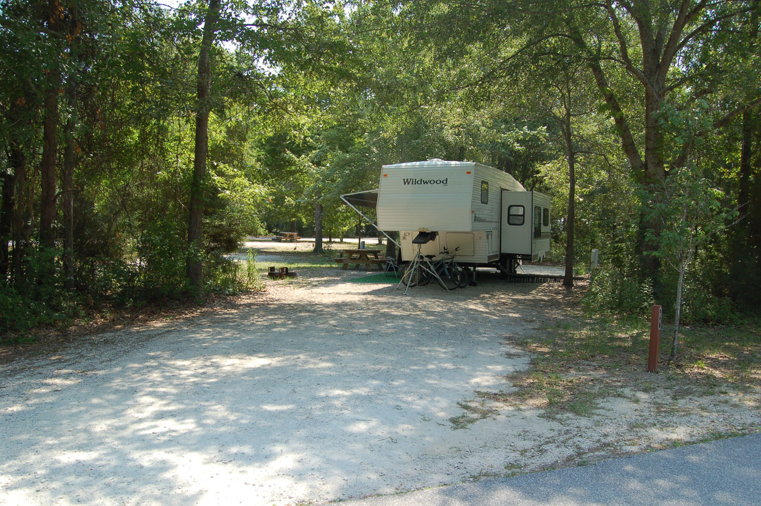 Image of Site #89 at the Campground at James Island County Park