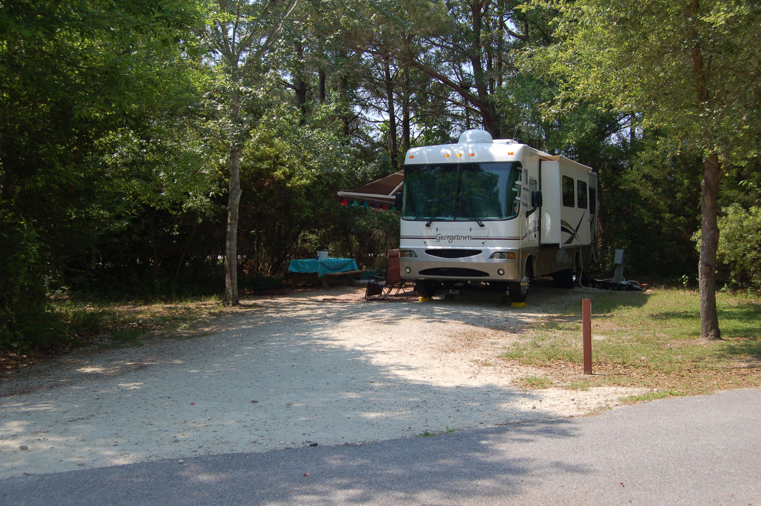 Image of Site #90 at the Campground at James Island County Park
