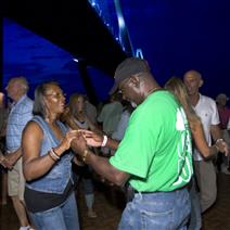 Couples dancing at the Mount Pleasant Pier