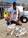 Pier Superstar, David, with pompano, black drum, and seatrout