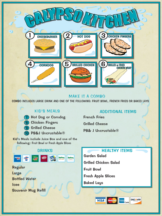 Image of the Snack Bar Menu