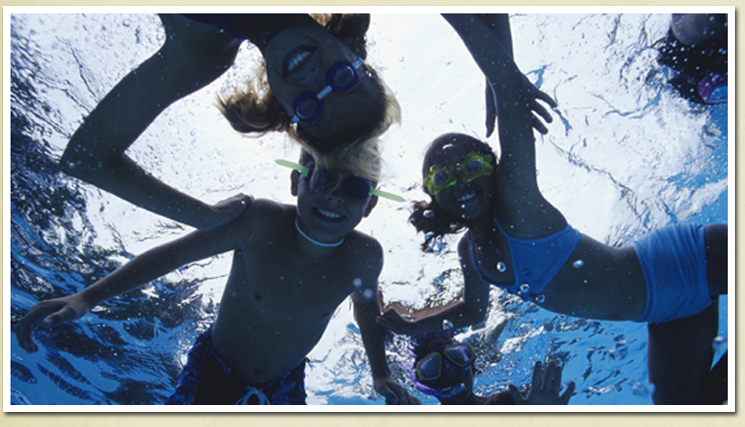 Image of children swimming
