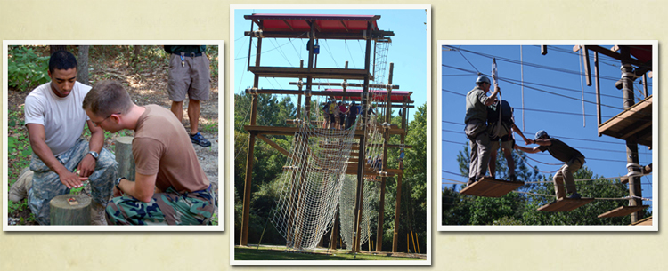 Images of Challenge Course activities